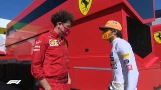 Mattia Binotto and Carlos Sainz Talking to Each other in Italian during FP3