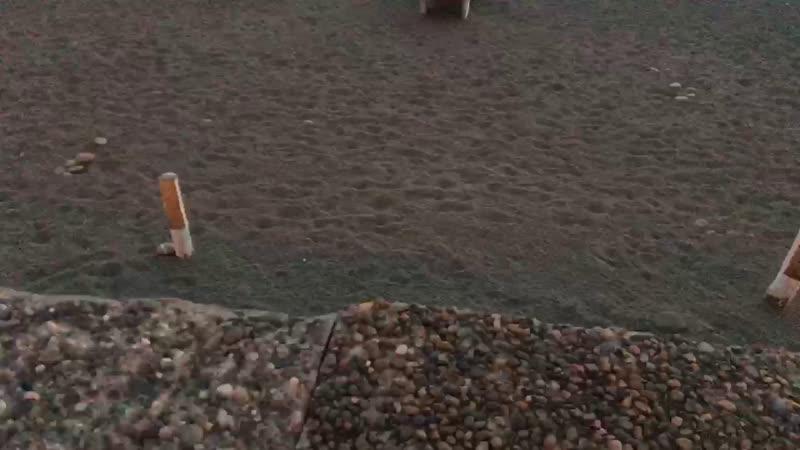 Закат Адлер пляж огонёк