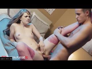 Сын развлекается с няней пока мама ушла Justin Hunt Dolly Leigh [ In stockings,Ч