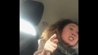 Вези меня Мразь. Девушка истерично орёт на таксиста