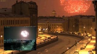 Фейерверк 23 февраля 2021 Санкт-Петербург Петропавловская крепость и вид с канала Грибоедова