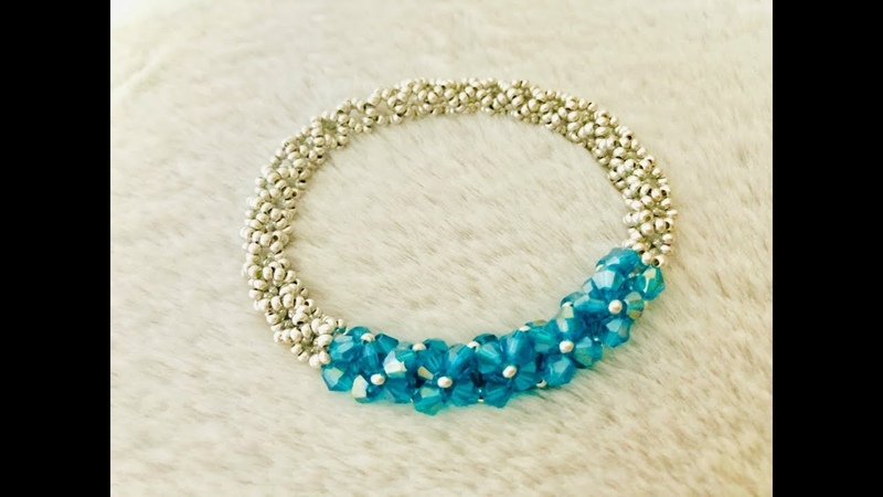 Tubular Netted Bracelet. DIY beaded bracelet. How to make beaded bracelet