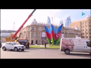 🇦🇿 Площадь Азадлыг в Баку продолжают готовить к Параду Победы 💥