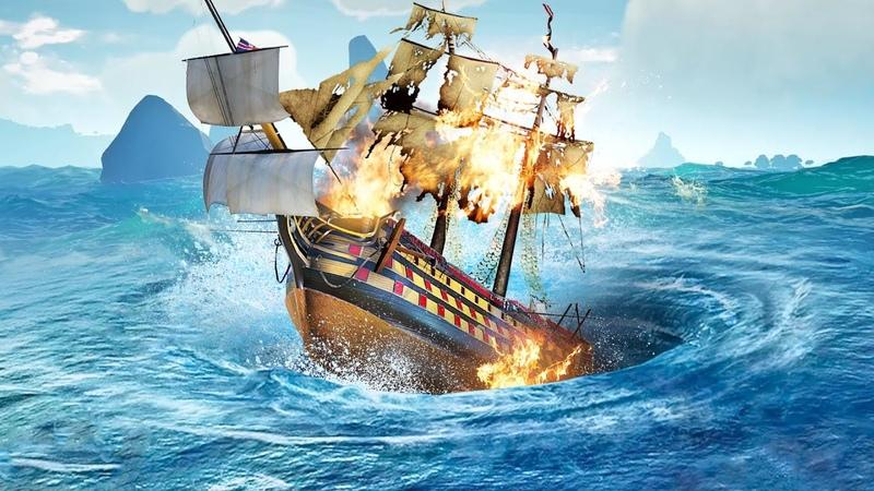 СРОЧНО ТУШИ ПОЖАР НА КОРАБЛЕ! ТОЛЯ, ХВАТИТ ПИТЬ, НЕСИ ВЕДРО! ОПАСНЫЕ ПРИКЛЮЧЕНИЯ В SEA OF THIEVES