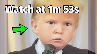 President Donald Trump MOST SAVAGE  with a baby face