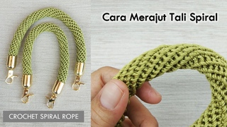 Tali Rajut Spiral : Crochet Spiral Rope and How To Attach The Hook