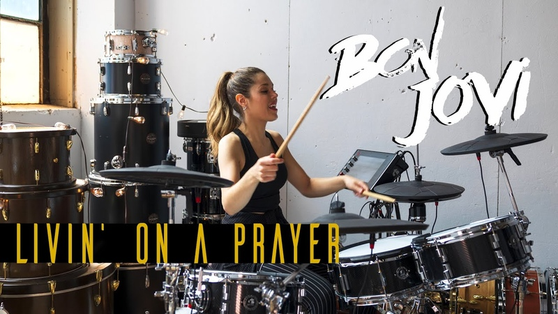 Livin' On a Prayer Bon Jovi DRUM COVER Domino Santantonio