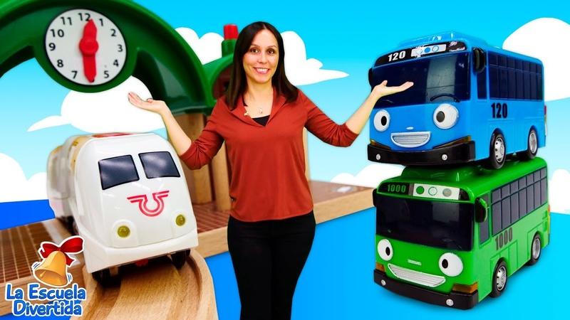Trenes para niños en la Escuela Divertida Juguetes Robot Trains