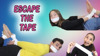 Escape the Tape Hogtie Escape Challenge With Tickle (Duct Tape)