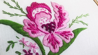 Hand Embroidery: Brazilian Flower Embroidery/Embroidery for bedsheet/E embroidery for pillows