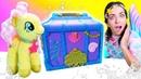 Видео для детей про игрушки Май Литл Пони у Русалки. Флаттершай получила Талисман прыгучести!