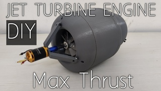 How to make a Mini Jet Engine   3D Printed   DIY with Max Thrust