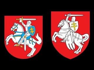 """Сравнение гербов Погоня. Литовский vs Беларуский    """"Старобеларуский"""" язык в 16 веке - это про что?"""