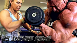 25 INCHES ARMS - GET MASSIVE BICEPS AND TRICEPS - EPIC ARM DAY MOTIVATION