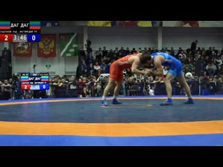 До 97 кг. Полуфинал: Абдулрашид Садулаев (Дагестан) - Расул Магомедов (Дагестан)