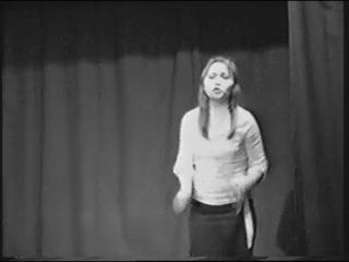"""Чехов """"Новогодняя пытка"""". Наташа Трусова. 1 курс, 2008г."""