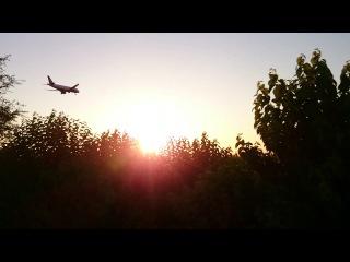 Uzbekistan Airways' aircraft is landing in Urgench Airport.