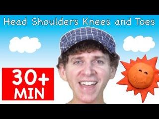 Head Shoulders Knees and Toes | Plus More Songs | 30 + Minutes of Kids Songs