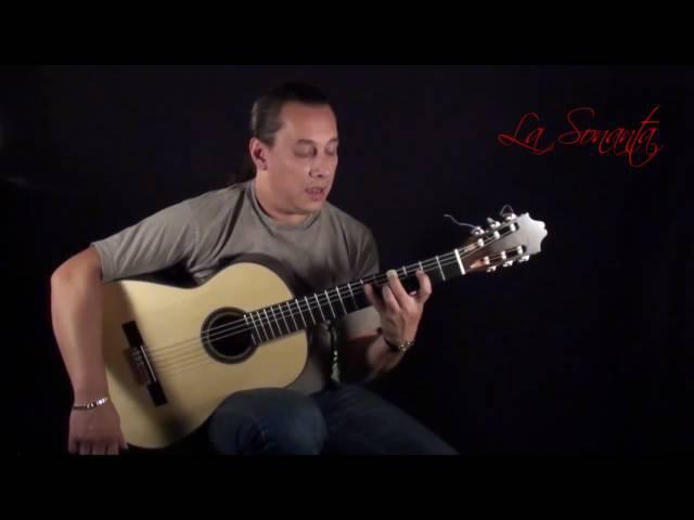 Flamenco Guitar lesson with free tabs Arpegio por Buleria on a Antonio Raya Pardo