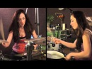 RED HOT CHILI PEPPERS AROUND THE WORLD DRUM COVER BY MEYTAL COHEN