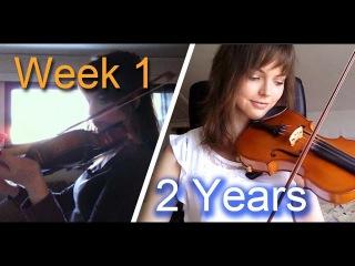 Adult beginner violinist - 2 years progress video