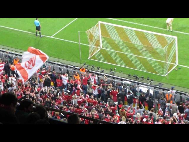 Gol de Müller 4-0 en 82 Euforia grada que responde al speakerBayern Múnich 4-Barça 0
