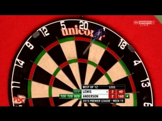Adrian Lewis v Gary Anderson (2015 Premier League Darts / Week 15)