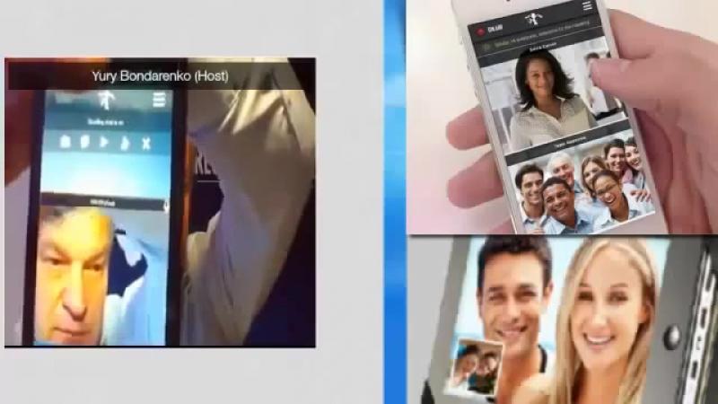 Демонстрация мобильной версии продукта iWowWe на смартфоне