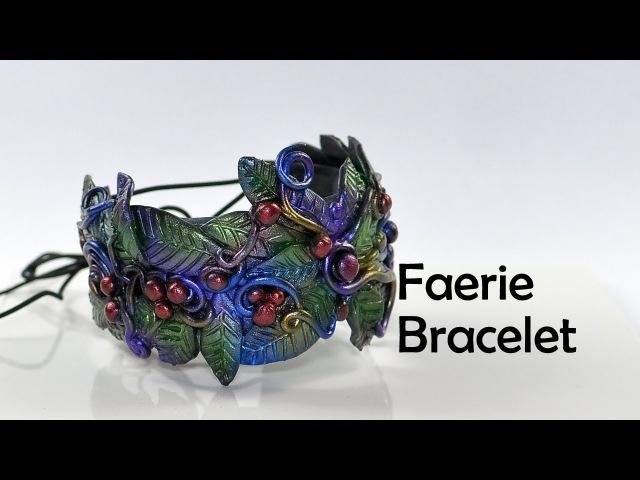 Faerie cuff bracelet - polymer clay TUTORIAL