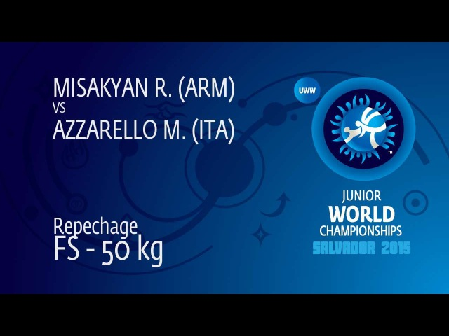 R. MISAKYAN (ARM) df. M. AZZARELLO (ITA) by FALL, 10-0