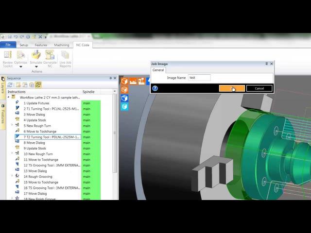 6 Edgecam TestDrive tutorial Job reports and NC output