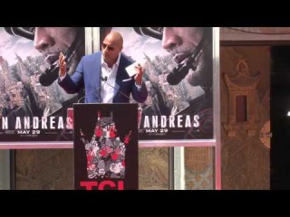 Dwayne Johnson's Hand & Foot Ceremony at Chinese Theater Exclusive Highlights