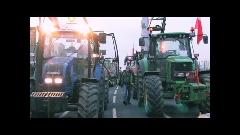 Rolnicy w Warszawie - blokada. TEGO NIE ZOBACZYSZ W TV