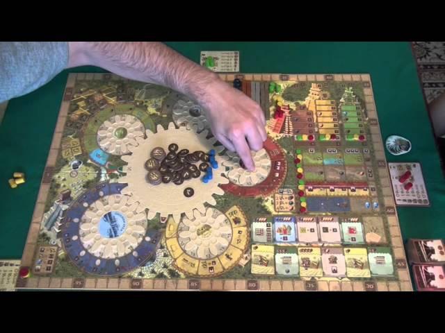 Tzolk'in The Mayan Calendar играем в настольную игру board game