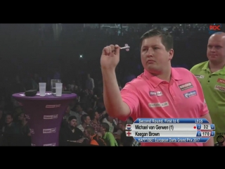 Michael van Gerwen vs Keegan Brown (European Darts Grand Prix 2017 / Round 2)