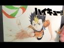 Drawing Nishinoya Yuu from Haikyuu ハイキュー