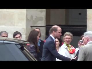 Уильям и кэтрин покидают дом инвалидов, 18.03.2017