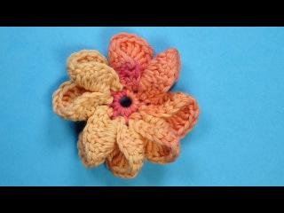 Вязаные цветы   вязание крючком 78