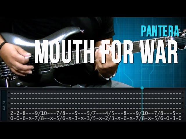 Pantera Mouth For War aula de guitarra completa