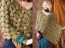 40 Bulky Poncho Vogue Knitting Crochet 2012