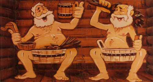 Дед мороз в бане картинка