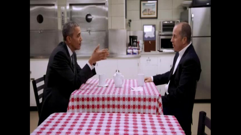 Comedians in Cars Getting Coffee Сайнфелд с друзьями в поисках кофе S07E01 Сезон 7 Эпизод 1 President Obama Барак Обама ENG