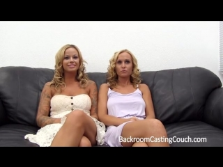 Busty mom and daughter at porn casting anal fuck and suck dick