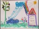 Делаем аппликацию из ниток - Свинка Пепа и Джордж прыгают по лужам / children's crafts