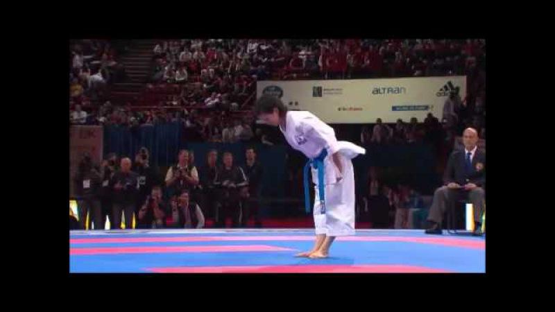 Rika Usami vs Sandy scordo 2012 world karate championship individual female kata final