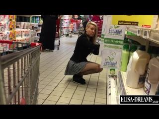 Elisa-dreams.com — flashing my pussy in public in a shopping center (public, exhibitionism, публичный экзгибиционизм)