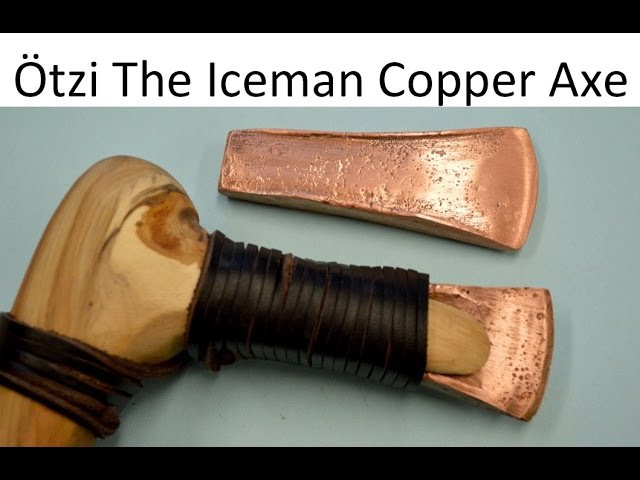 How to make an Otzi the Iceman Copper Axe Blade. Ancient Bushcraft Survival Skills.