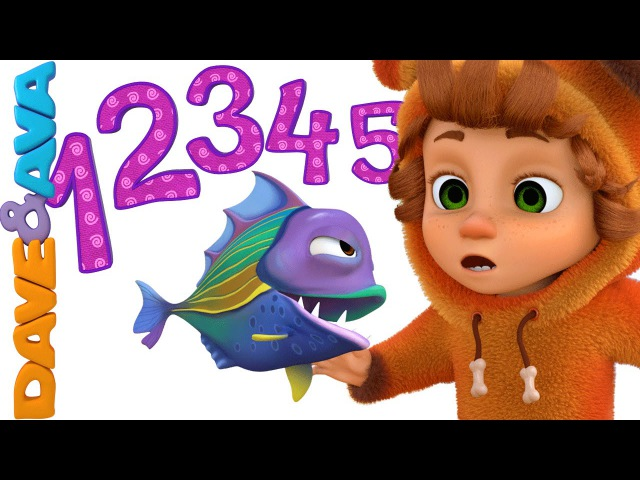 12345 Once I Caught a Fish Alive   Nursery Rhymes and Baby Songs from Dave and Ava