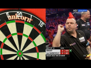 Peter Wright vs Raymond van Barneveld (2016 Premier League Darts / Week 15)