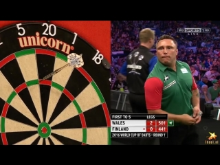 Wales vs Finland (PDC World Cup of Darts 2016 / First Round)